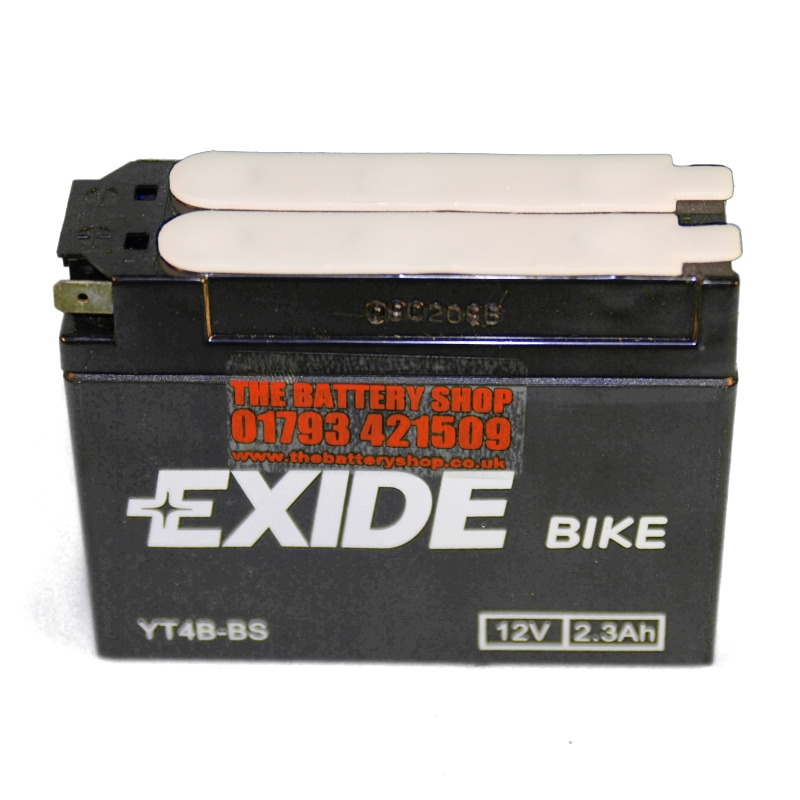 exide et4b bs motorcycle battery 12v 2 3ah 35a yt4b bs. Black Bedroom Furniture Sets. Home Design Ideas