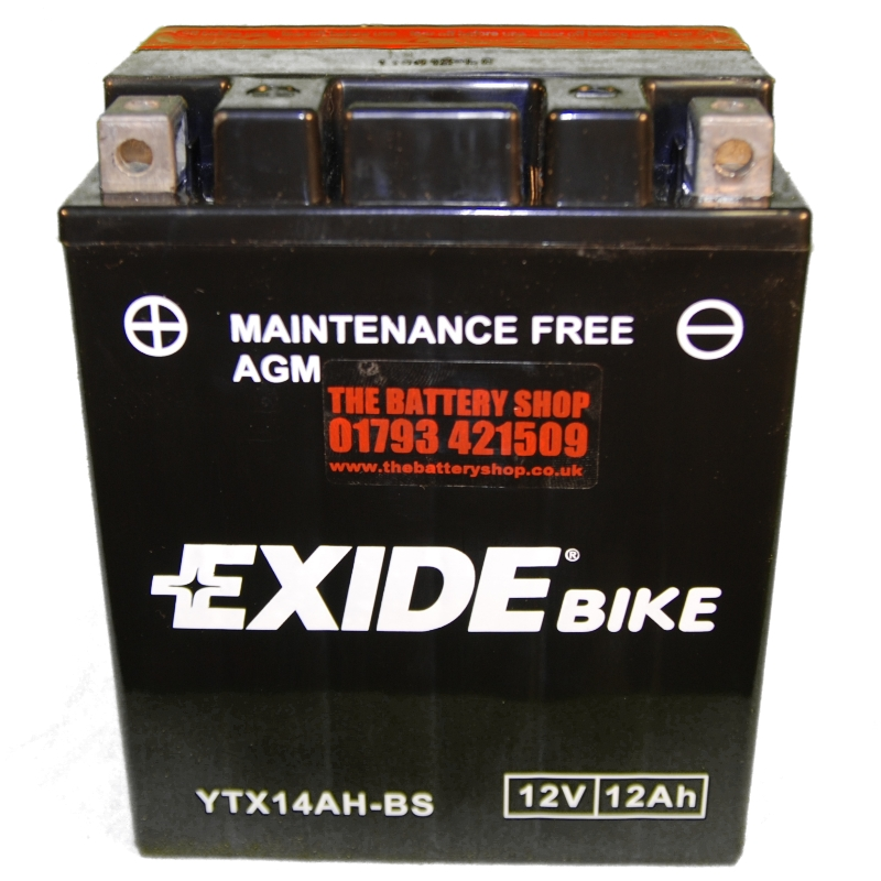 exide etx14ah bs motorcycle battery 12v 12ah 210a ytx14ah bs. Black Bedroom Furniture Sets. Home Design Ideas
