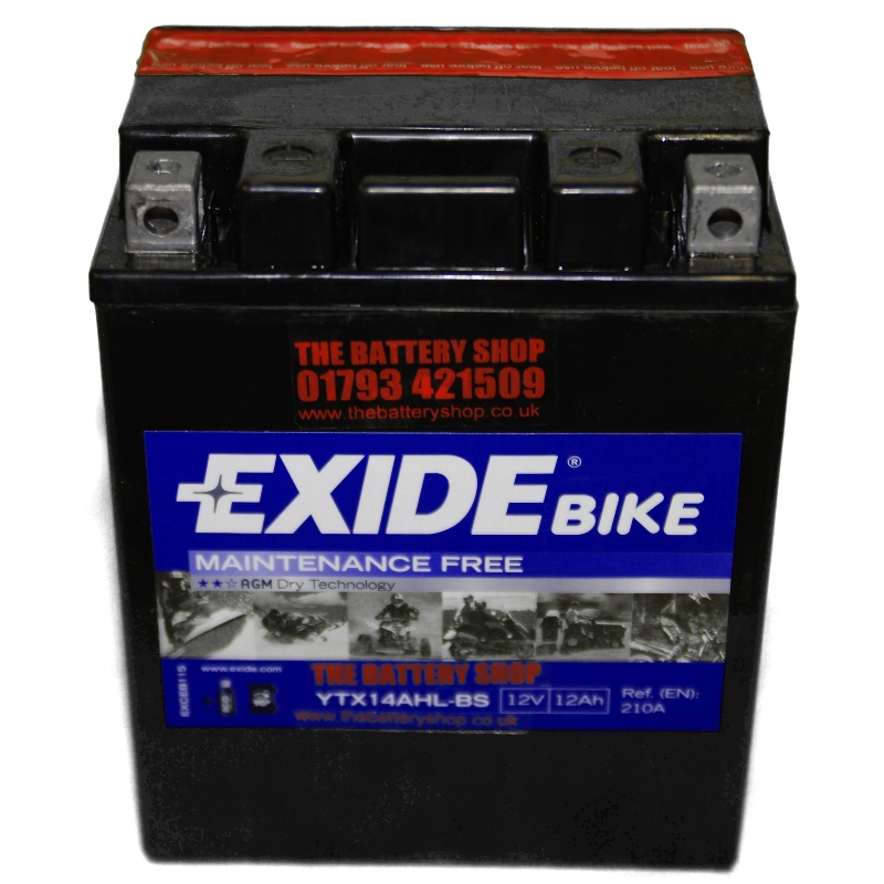 exide etx14ahl bs motorcycle battery 12v 12ah 210a ytx14ahl bs. Black Bedroom Furniture Sets. Home Design Ideas
