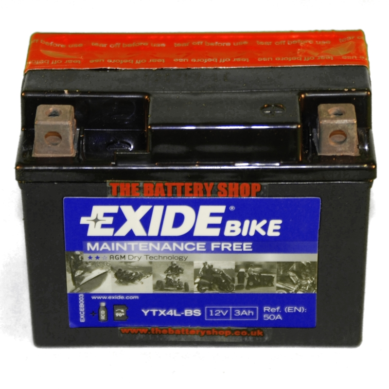 exide etx4l bs motorcycle battery 12v 3ah 50a ytx4l bs yt4l bs. Black Bedroom Furniture Sets. Home Design Ideas