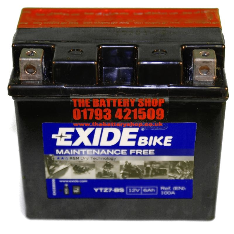 exide etz7 bs motorcycle battery 12v 6ah 100a ytz7 bs ytz7s. Black Bedroom Furniture Sets. Home Design Ideas