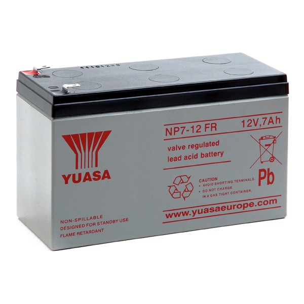 np7 12fr yuasa 12v 7ah lead acid battery battery ex vat buy online from the battery shop. Black Bedroom Furniture Sets. Home Design Ideas