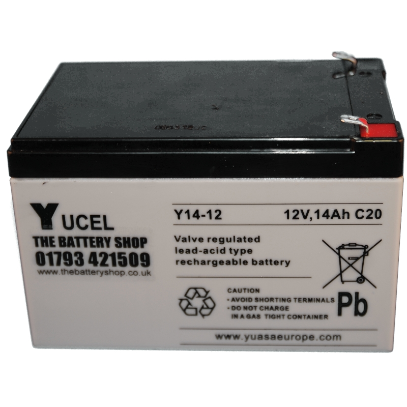 Y14 12 Yuasa Yucel 12v 14ah Lead Acid Battery 1337 P on car alarm systems