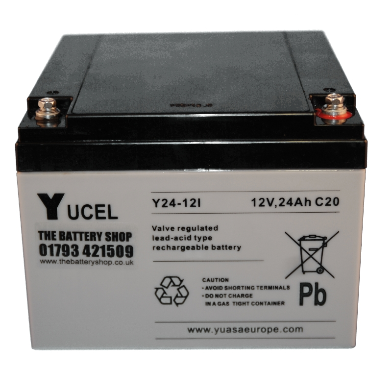 y24 12i yuasa yucel 12v 24ah sealed lead acid battery battery ex vat buy online from. Black Bedroom Furniture Sets. Home Design Ideas