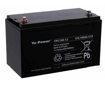 yuasa yu power ypc100 12 cyclic battery 12v 100ah battery. Black Bedroom Furniture Sets. Home Design Ideas