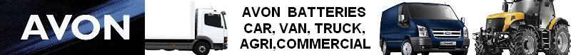 Avon Car Commercival Van Tractor Agri Batteries