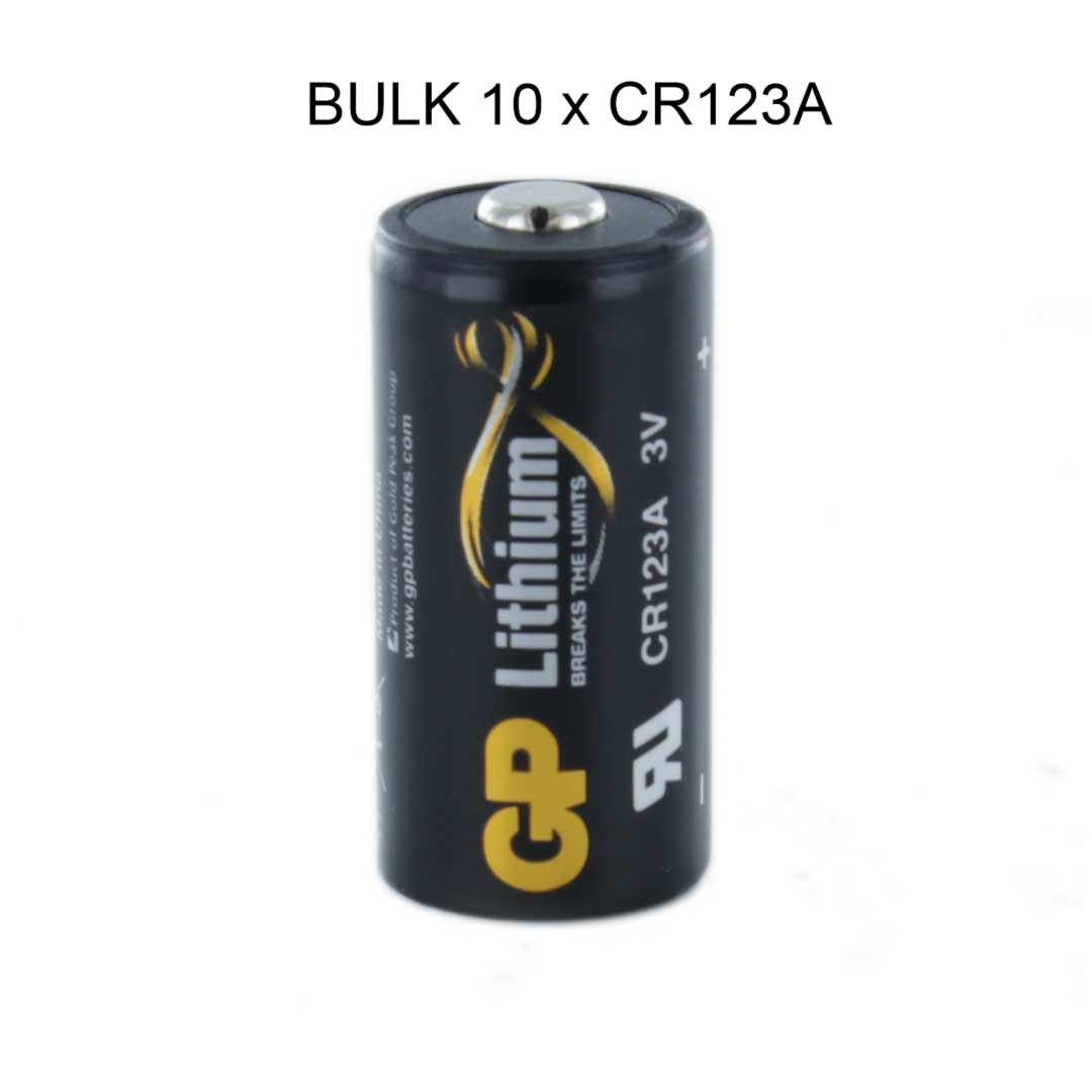 Bulk 10 X Gp Cr123a 3v Lithium Battery Fits Various Visonic Products