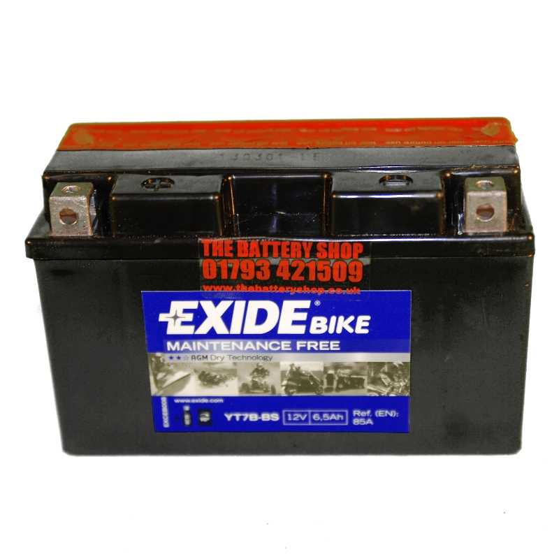 exide et7b bs motorcycle battery 12v 6 5ah 85a yt7b bs ct7b 4. Black Bedroom Furniture Sets. Home Design Ideas