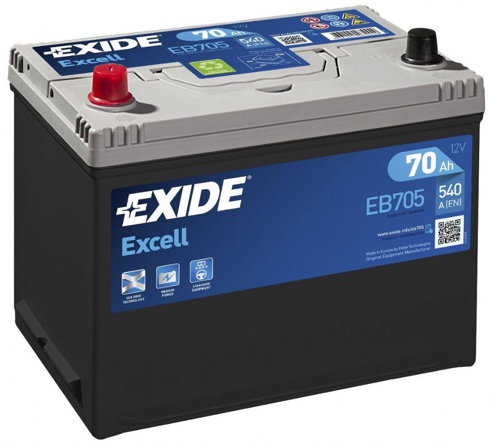 Exide Excell 031SE Car Battery EB705
