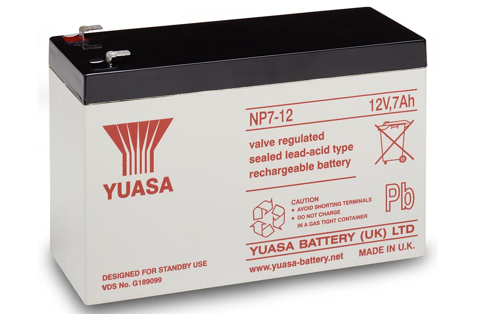 np7 12 yuasa 12v 7ah lead acid battery battery ex vat buy online from the battery shop. Black Bedroom Furniture Sets. Home Design Ideas