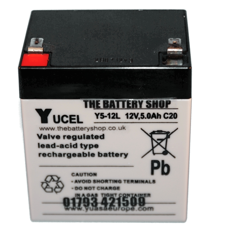 12v 5ah Battery >> Y5 12l Yuasa Yucel 12v 5ah Lead Acid Battery