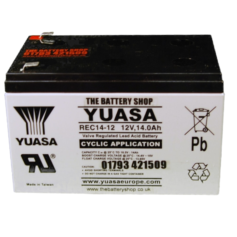 Car Battery Voltage >> Yuasa REC14-12 Cyclic Battery 12v 14Ah Battery | £24.58 + VAT Buy online from The Battery Shop