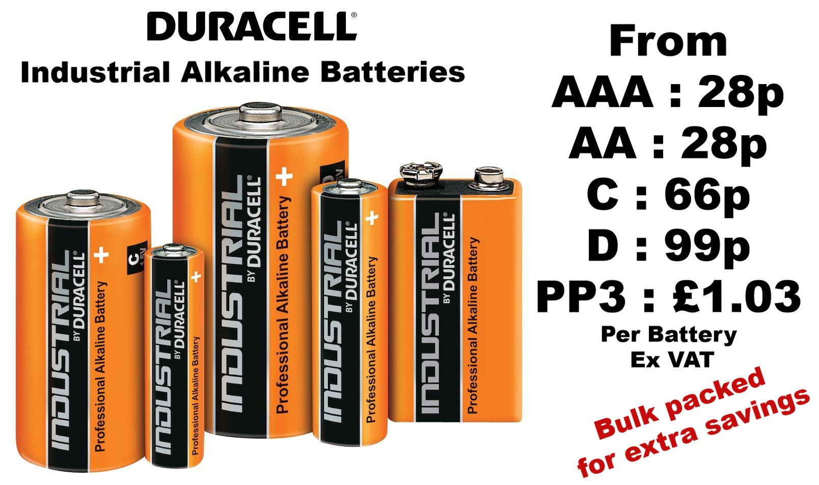 Duracell Industrial Batteries Bulk Buy and Save