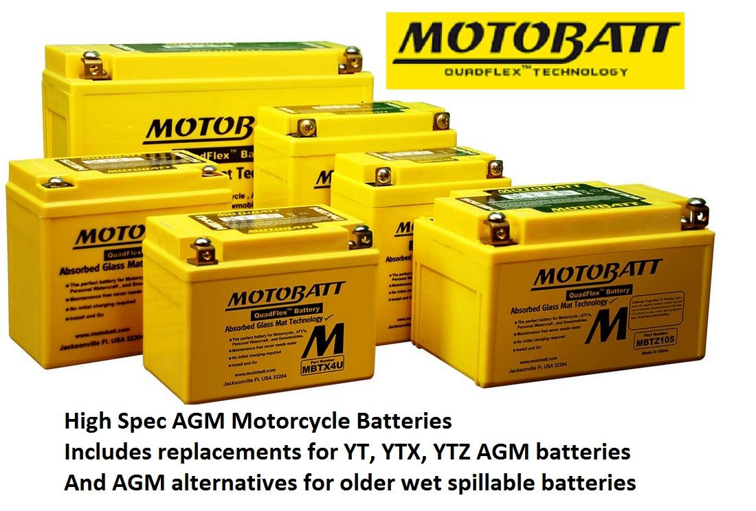 Motobatt AGM Motorcycle Batteries