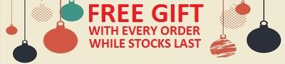 FREE GIFT WITH EVERY ORDER WHILE STOCKS LAST